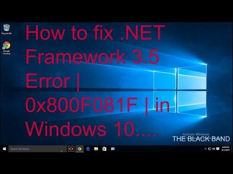 How to fix.NET Framework 3.5 Error | 0x800F081F | in Windows 10.