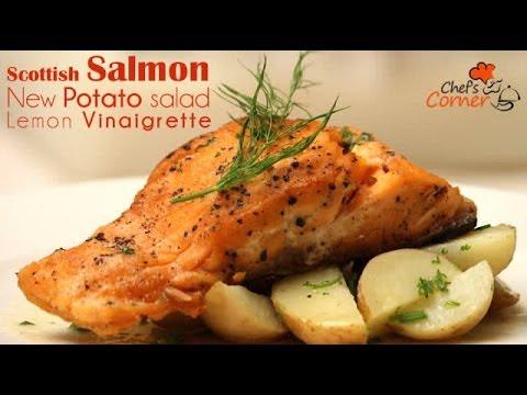 Scottish Salmon, New Potato Salad, Lemon Vinaigrette | Ventuno ChefsCorner
