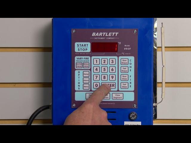 6: Tucker's Kilns Bartlett V6 CF för keramikugnar – Programmera Bartlett själv