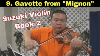 "Suzuki Violin Book 2 - 09. Gavotte from ""Mignon"""