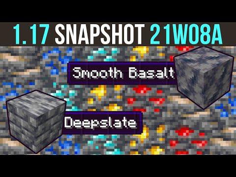 Minecraft 1.17 Snapshot 21w08a Deepslate Ores & Enhanced Cave Generation - xisumavoid