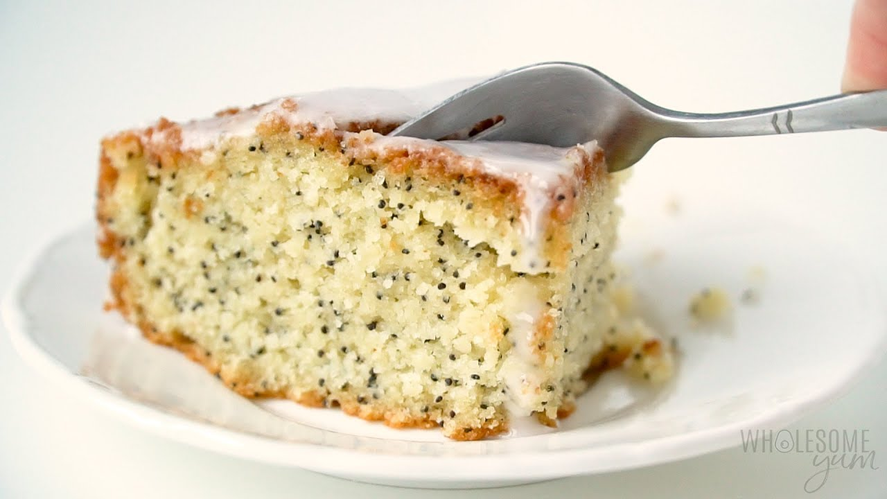 Lemon Poppy Seed Low Carb Keto Pound Cake Recipe With Almond Flour