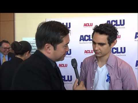 Max Minghella Red Carpet Interview at ACLU Annual Luncheon