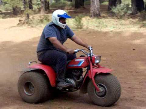 Honda 4 Wheeler >> John on Honda ATC 200 3 wheeler - YouTube