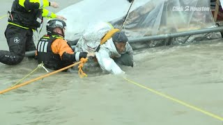Man rescued from Brays Bayou