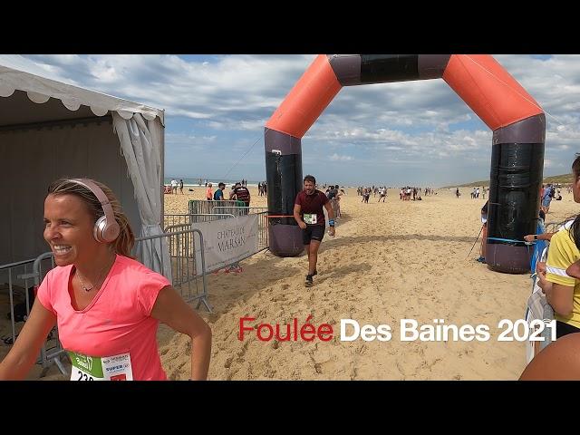 Foulée des Baïnes #5 - vlog - Extraits de course - arrivée des coureurs Grand Crohot Lège-Cap Ferret