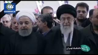 Leader Khamenei leading funeral prayers for Ayatuallah Hashmi Rafsanjani