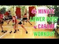 45 Minute Lower Body STRENGTH + KILLER  Cardio Workout | Real Time Home Workout for Men and Women!