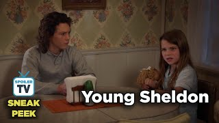 """Young Sheldon 2x12 Sneak Peek 1 """"A Tummy Ache and a Whale of a Metaphor"""""""