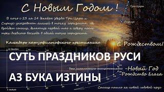 Физическая суть праздников атеистической Руси.АЗ БУКА ИЗТИНЫ Фильм 5