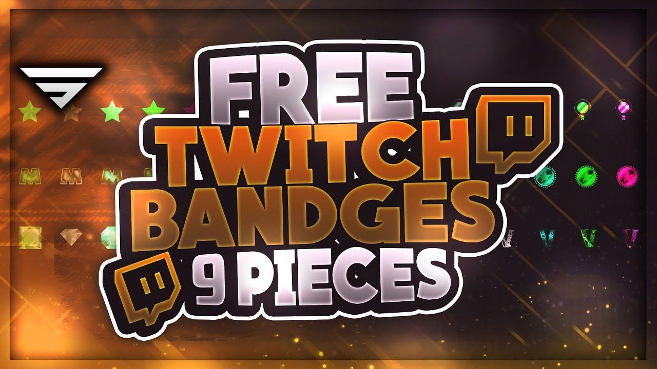 Free Twitch Subscriber Bandges | +Premium Version | GFX | Seangraphicx