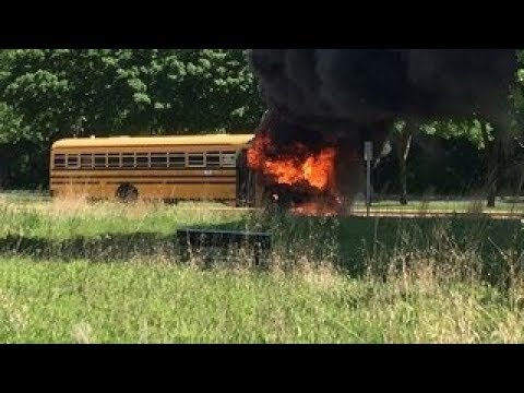 Bus catches fire outside Chanhassen elementary school