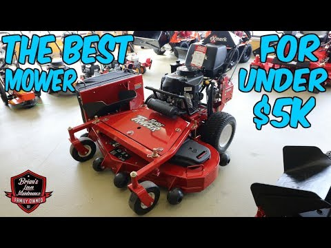 The Best Mower For Under $5,000 | Starting Up A Commercial Lawn Care Business | Exmark Turf Tracer
