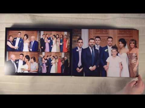 Wembley Hilton Greek wedding album shot and designed by Peter Lane Photography