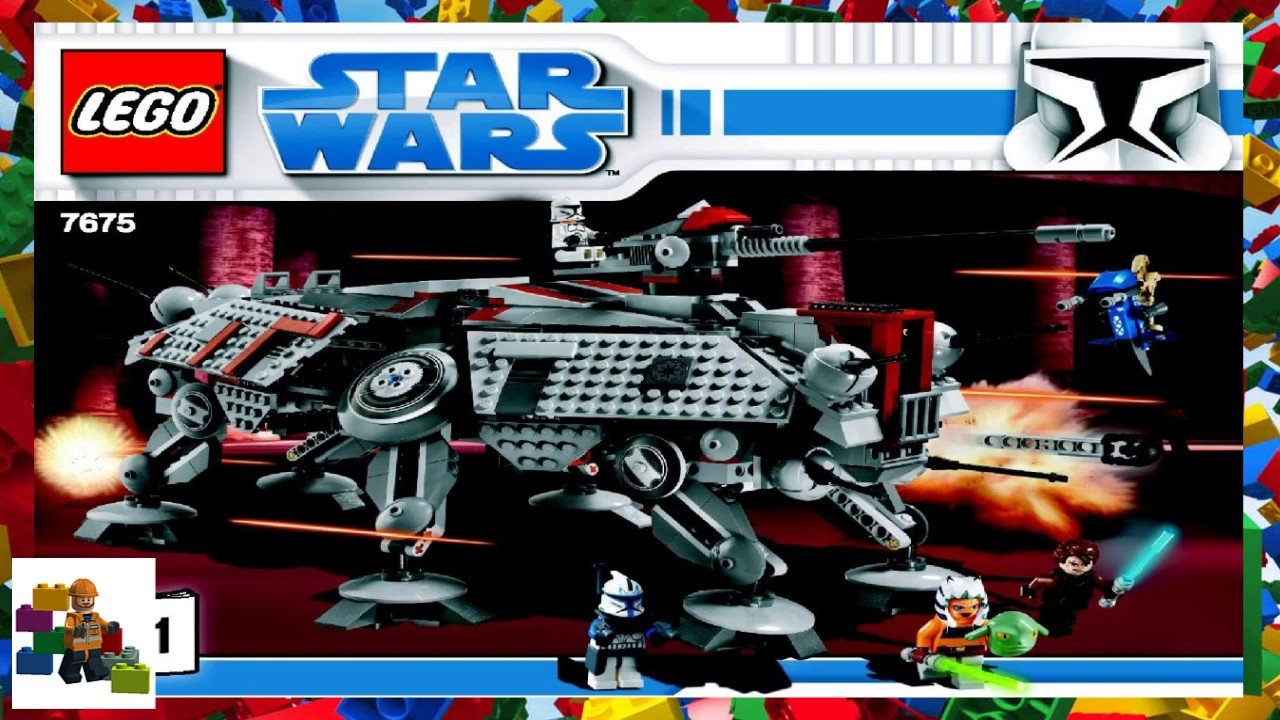Lego Instructions Star Wars 7675 At Te Walker Book 1 Youtube