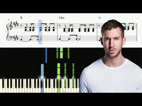 Calvin Harris - Rollin - Piano Tutorial + SHEETS