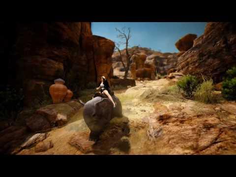 Black Desert Miniature Elephant Mount