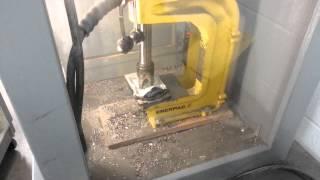 Hard drive crushing