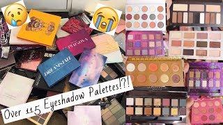 Eyeshadow Palette Declutter 2019   Makeup Collection   AmberElainexox