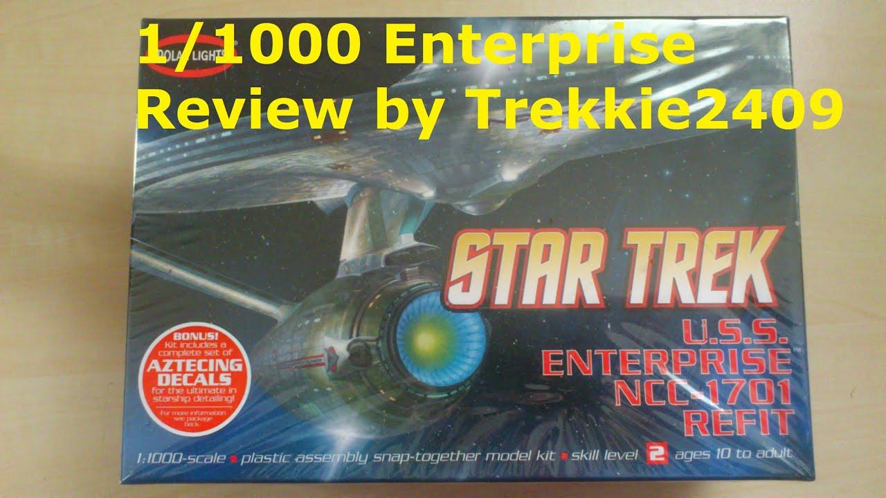 Star trek uss enterprise ncc refit 1 scale model - Star Trek Polar Lights Enterprise Refit A 1 1000 Scale Model Kit Review By Trekkie2409 Youtube