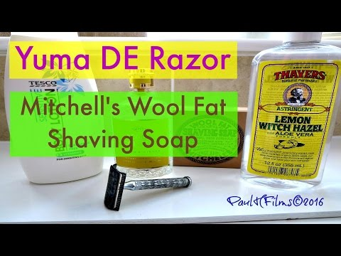 Yuma DE Razor - Mitchells Wool Fat Shaving Soap