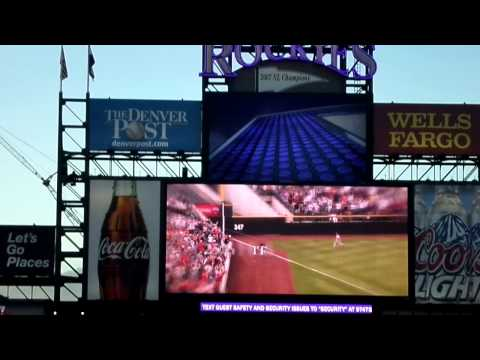 Todd Helton pre-game retirement ceremony and video