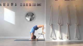 Iyengar Yoga Practice - Using a chair in drop backs