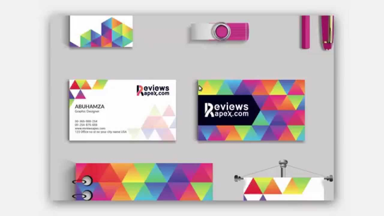 modern graphic stationery design template download free youtube