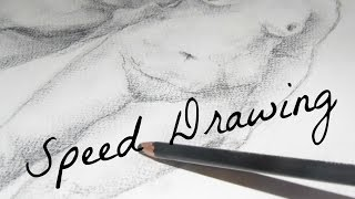 Speed drawing | Carboncillo | Desnudo