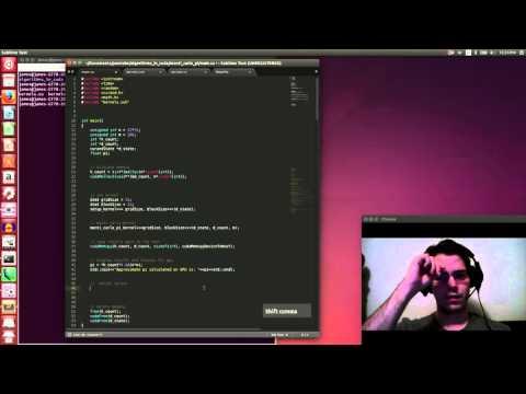Algorithms in CUDA: Using Monti Carlo to calculate pi
