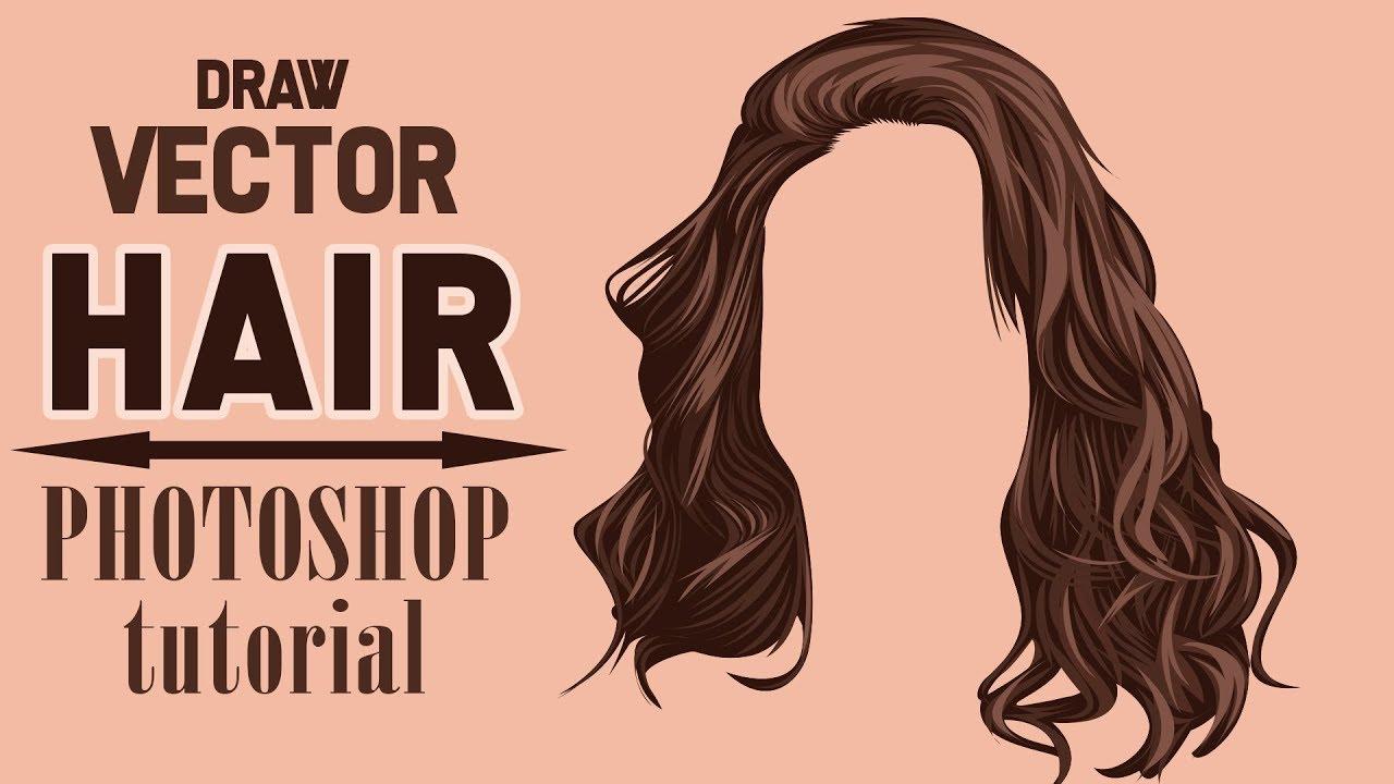 Draw Vector Hair Photoshop Tutorial Rainbow Graphic Youtube