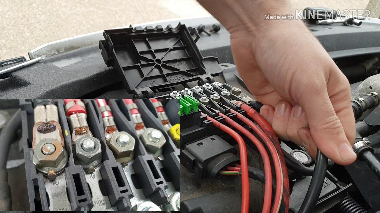 Fixing my melting fuse box issue - YouTube   Audi Tt Fuse Box Melted      YouTube