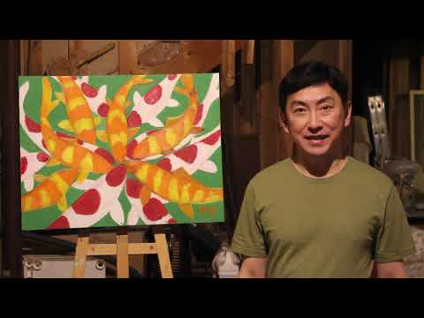 Oil Painting – The Koi – by Artist Peter Suk Sin Chan