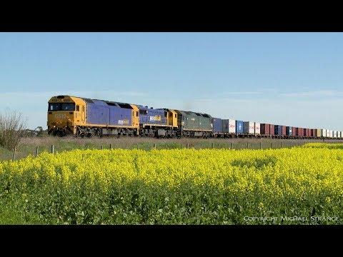 7902V Mildura To Melbourne Containers - PoathTV Australian Trains & Railways