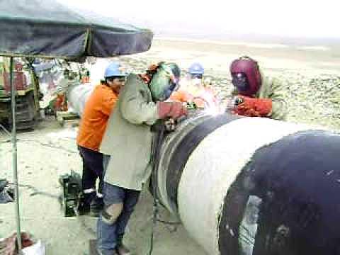 Soldadores Peruanos Aplicando Proceso Fcaw En El
