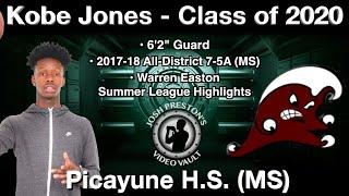 Kobe Jones Summer League Highlights - Picayune (MS) 2020 G