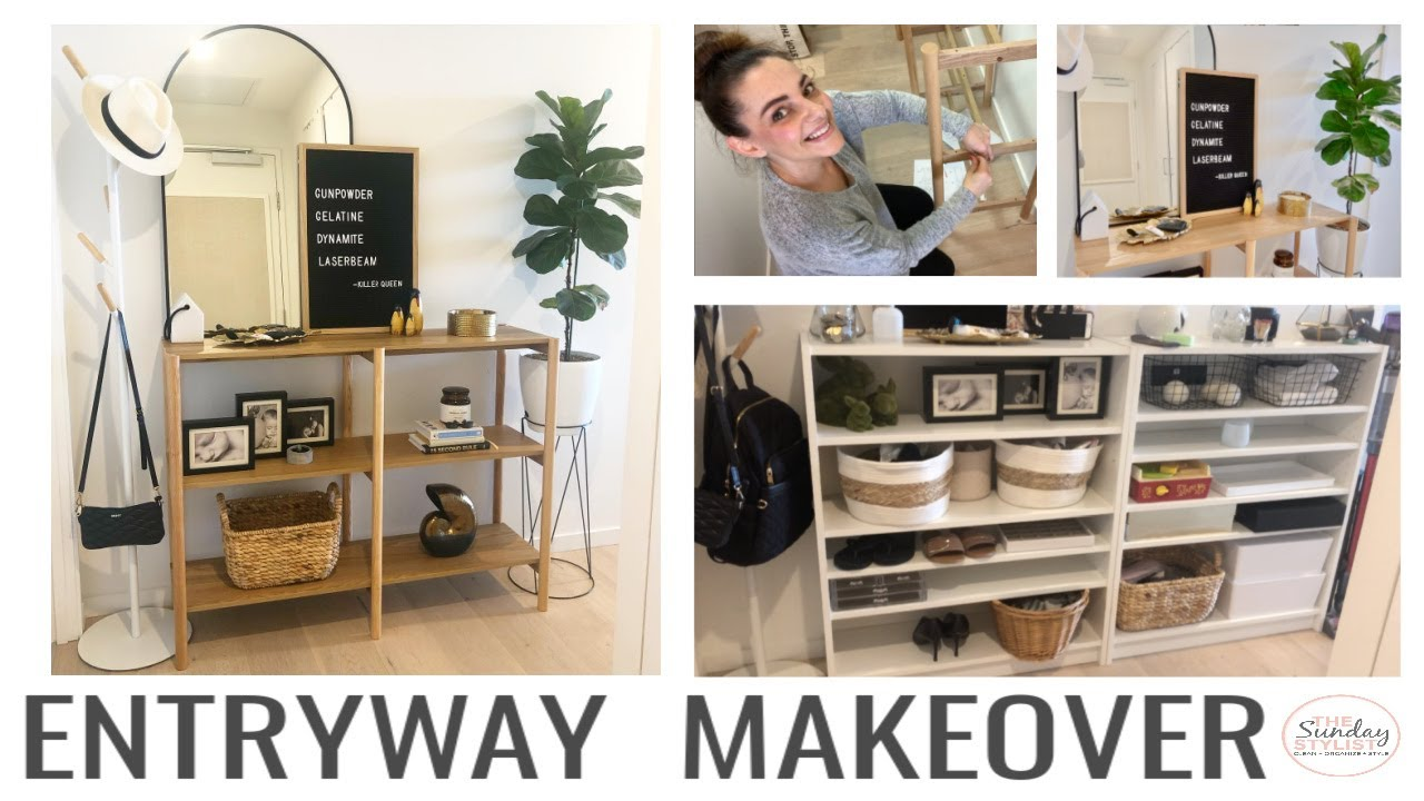ENTRYWAY MAKEOVER - small apartment hallway update with scandi style bookshelf || THE SUNDAY STYLIST