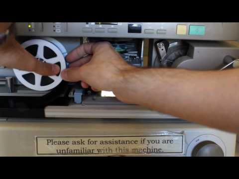 How To Load Microfilm - Canon MS 400