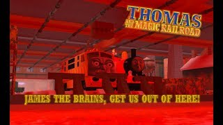 Roblox Magic Railroad Clip: James the Brains, Get Us Out of Here!