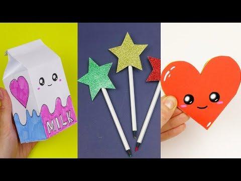 5 DIY School Supplies | Easy DIY Paper crafts ideas
