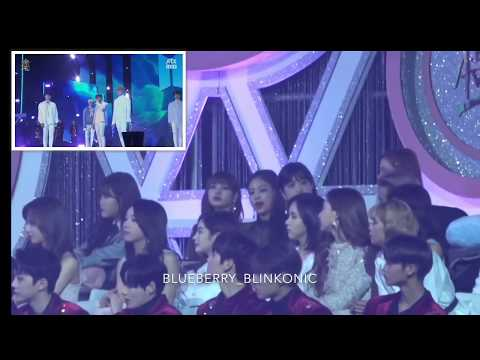 180110 BLACKPINK Reactions to BTS - HER & SPRING DAY [All Fancams] @GDA