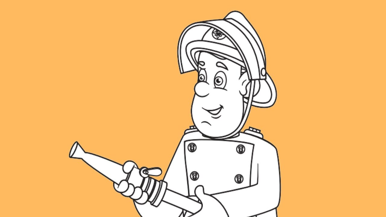 How To Draw Fireman Sam From Fireman Sam Tv Show Youtube