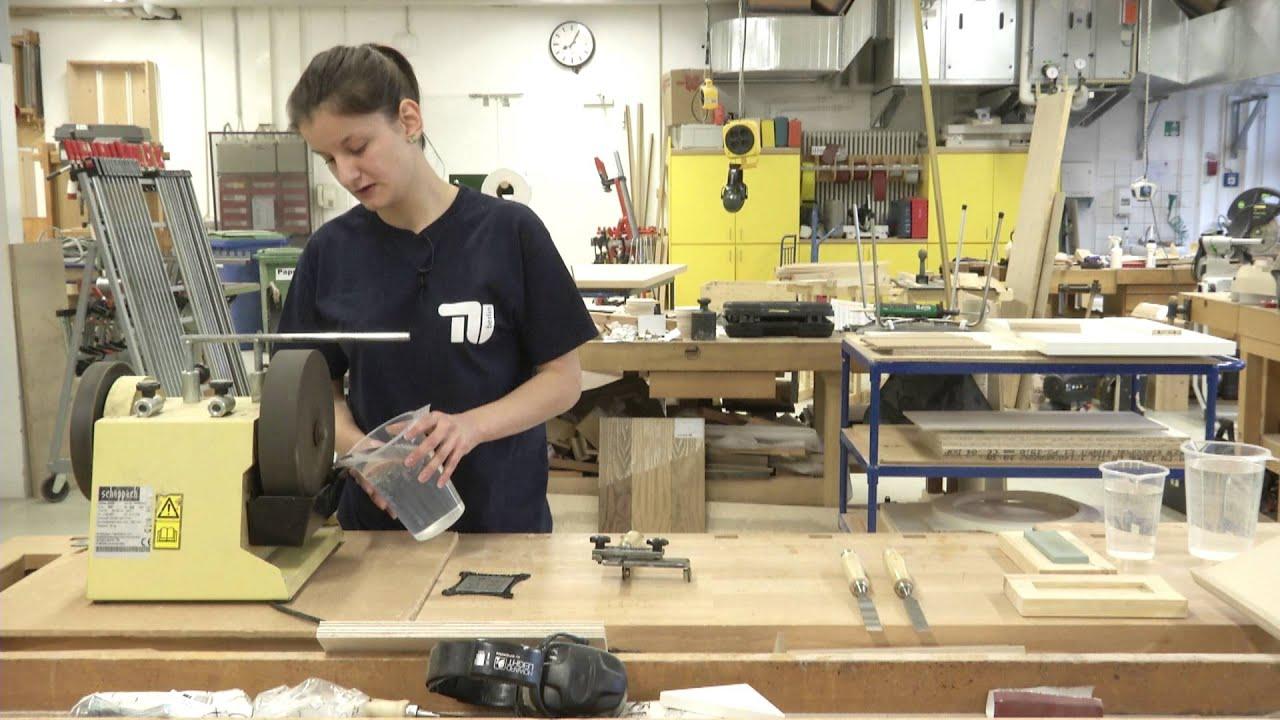 tu berlin tutorial: stechbeitel schärfen am schleifstein - youtube