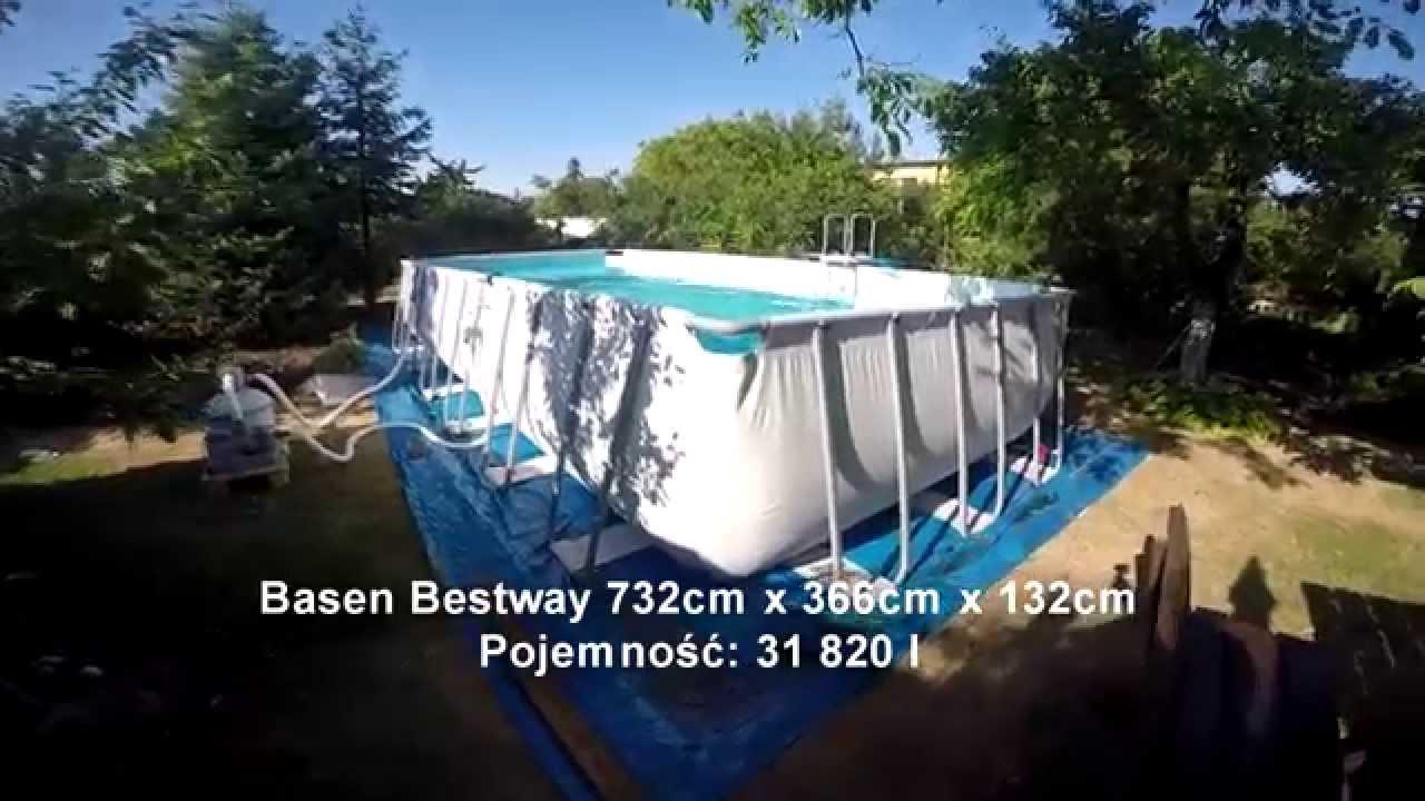 basen bestway bestway pool 732x366x132 youtube
