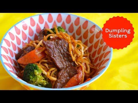 Juicy Beef Fried Noodles   DUMPLING SISTERS