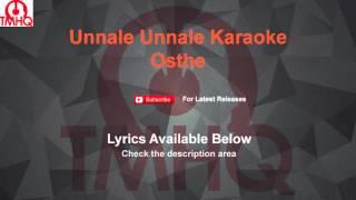 Unnale Unnale Karaoke Osthe Karaoke