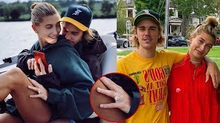 Hailey flaunts $500K engagement ring as she cuddles up to fiance Justin Bieber