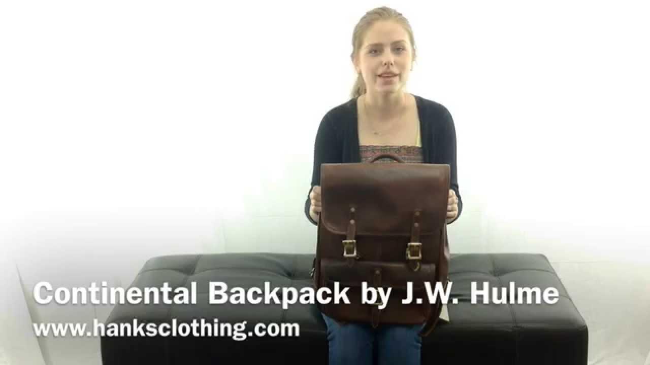 fa82829d47d2 Continental Backpack by J.W. Hulme - YouTube