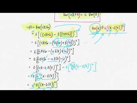 Show Var(aX+b)=a^2 Var(X)