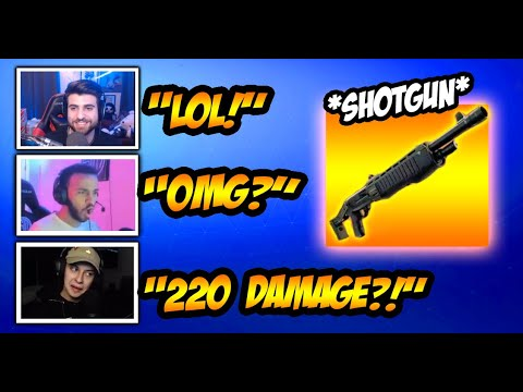 Streamers *REACT* To New Shotgun RELEASE! Funny Fortnite Clips & Crazy Moments!